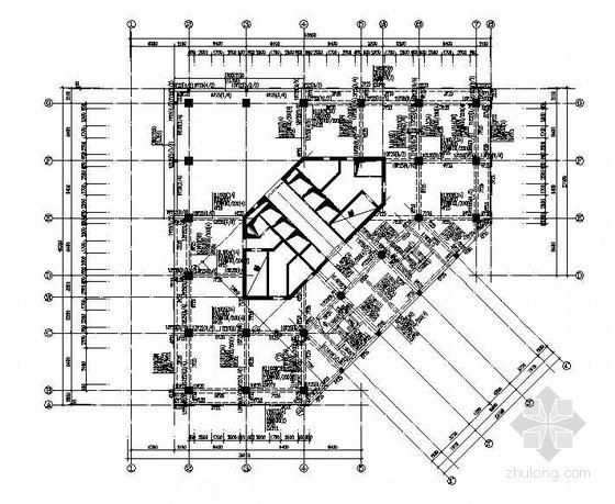 十六层结构平面图(F10结构施工图)