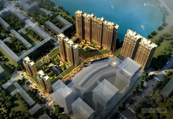 [黑龙江]高层现代artdeco风格高档对称式塔式住宅建筑设计方案文本