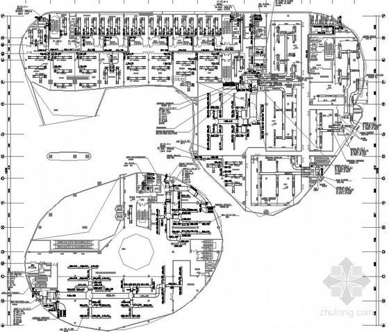[安徽]科技展览博物馆空调及通风排烟施工图(风冷恒温恒湿精密空调机)