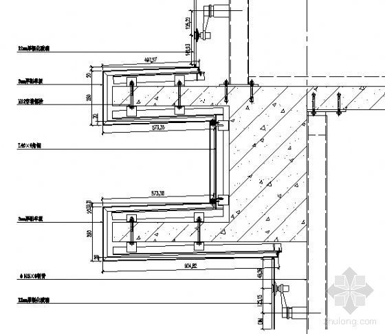 MQ2、MQ3三层楼板纵剖节点图一