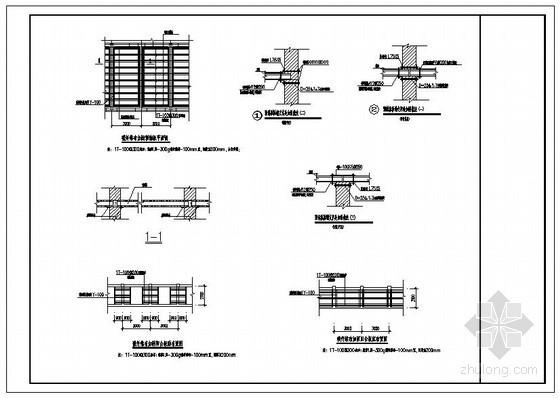 某砖混结构预制板碳纤维布加固节点构造详图