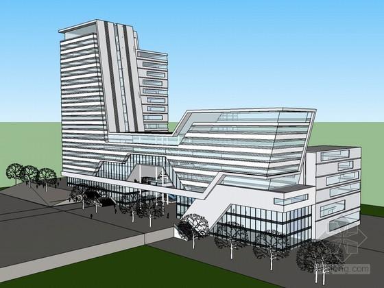 整洁明亮建筑SketchUp模型下载-整洁明亮建筑