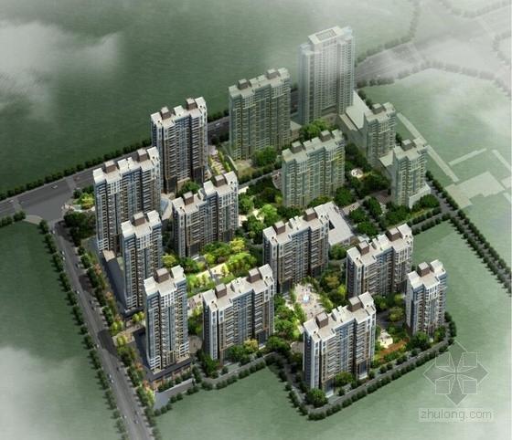 [西安]高层现代风格住宅楼建筑设计方案文本