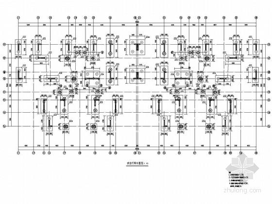 [湛江]12层框架剪力墙结构安置房结构图(半地下室)