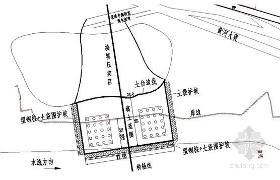 索塔钻孔桩平台施工平面布置图