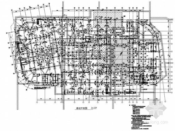 [福建]地上八层钢混组合结构大剧院结构施工图