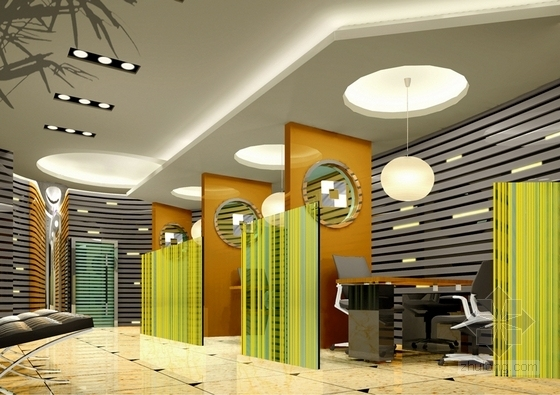 1基础设施开发性金融机构高档现代营业厅设计方案 个人理财区