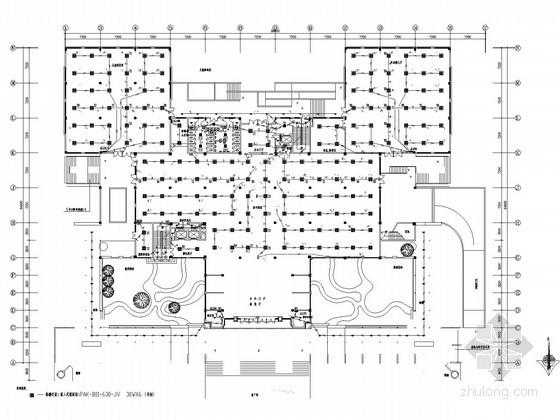 [广州]图书馆大楼全套电气施工图纸