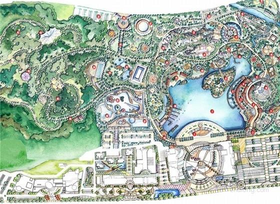 """[温州]""""加州风情""""主题公园总体景观规划设计方案"""