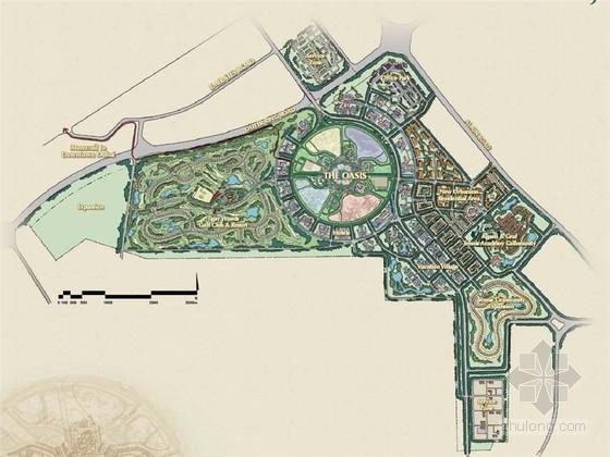 [英文]迪拜城市立顿现代化滨水主题公园景观规划设计方案