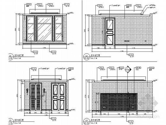 [昆山]顶级住宅时尚现代两层别墅样板房装修图主卧立面图