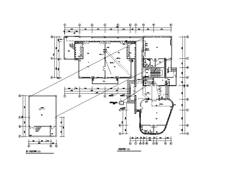 住宅小区四层幼儿园强弱电电气施工图