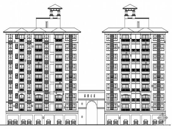 [佛山]某名居小区住宅楼建筑施工图