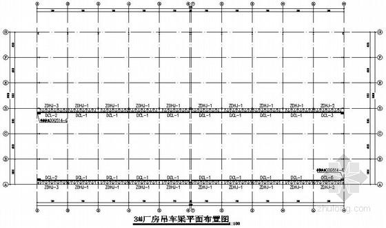 72mX54m和72mX36m两套门式钢架结构施工图(带吊车梁)