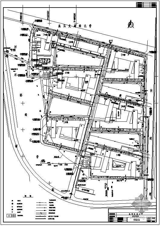 北京某住宅小区管网综合图