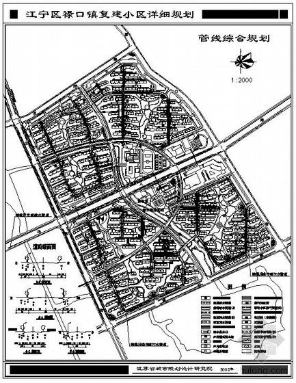 江苏省某城镇小区规划图