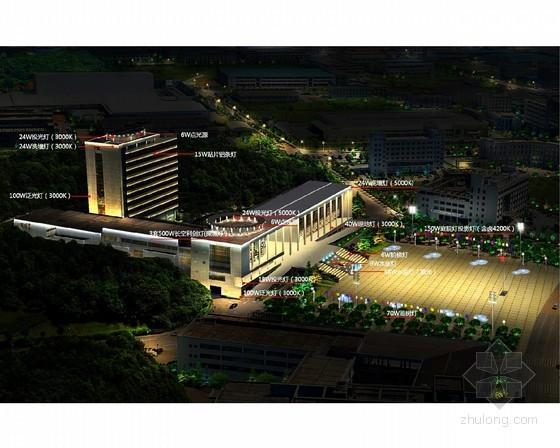 [长沙]大型综合亮化工程景观照明设计施工图纸76张