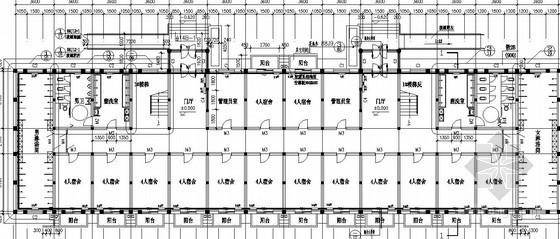 哈尔滨某职工宿舍采暖平面图