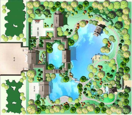 韩国中国岭南园林花园设计方案
