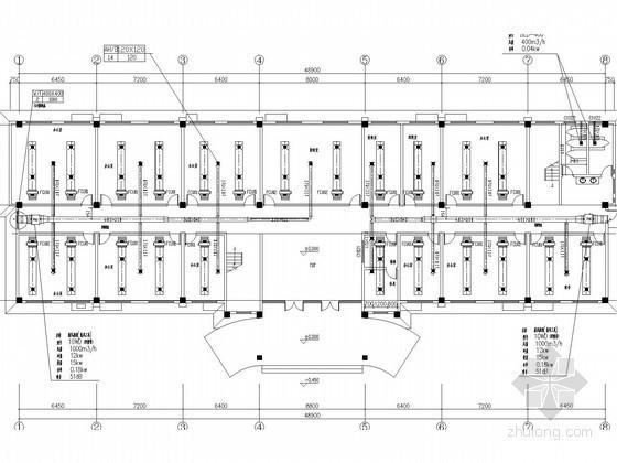[山东]工业工厂及配套设施空调系统设计施工图(地源热泵系统)
