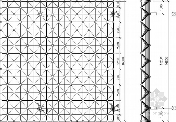 [高速公路]平板網架收費站結構施工圖