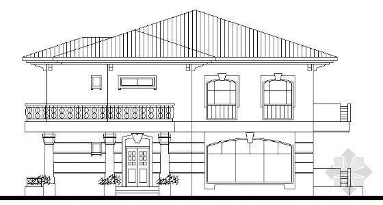 某二层小型别墅建筑设计方案图