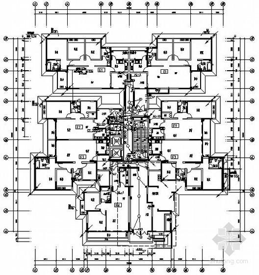 [武汉]某大厦电气全套图纸