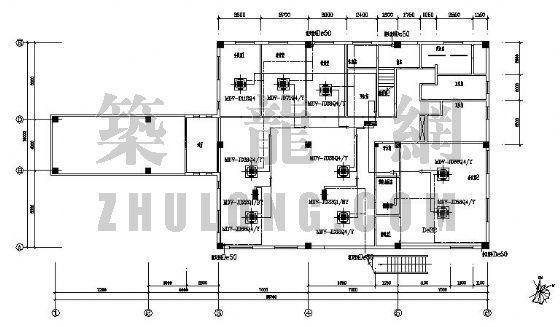 某办公楼变频多联机空调设计图