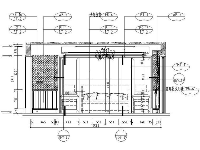 [成都]精品3层别墅样板间室内设计施工图(含效果图、材料表)_4