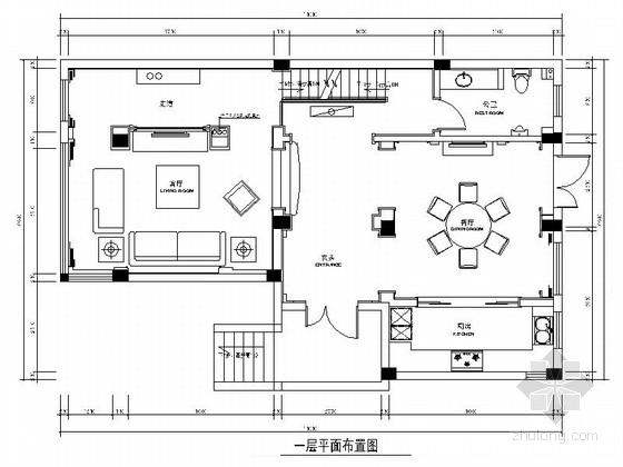 [江苏]精品现代奢华别墅室内装修施工图(含效果)