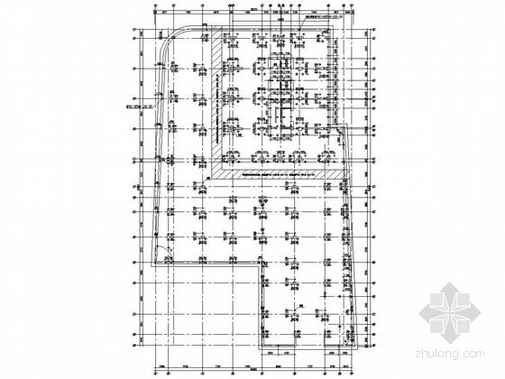 二十四层办公楼资料下载-[上海]24层框筒商场及公寓式办公楼结构图