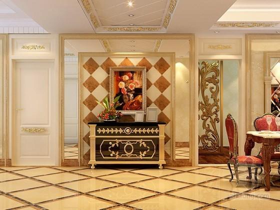 欧式古典餐厅3d模型