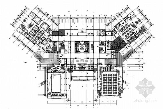 [衡水]历史底蕴深厚悠久文化名城五星级国际休闲度假酒店室内施工图