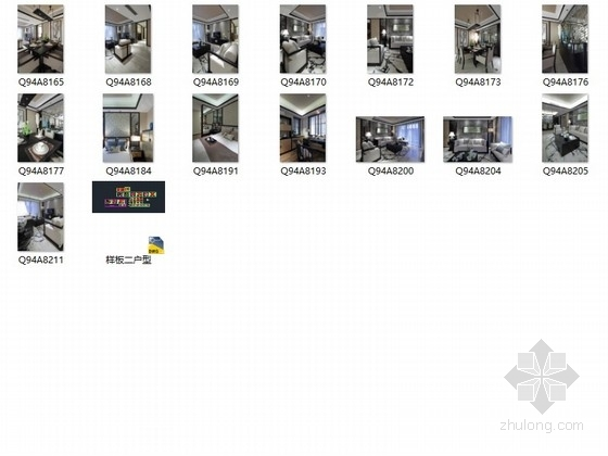 [福州]淡雅中式风格三居室样板间装修图(含实景) 总缩略图