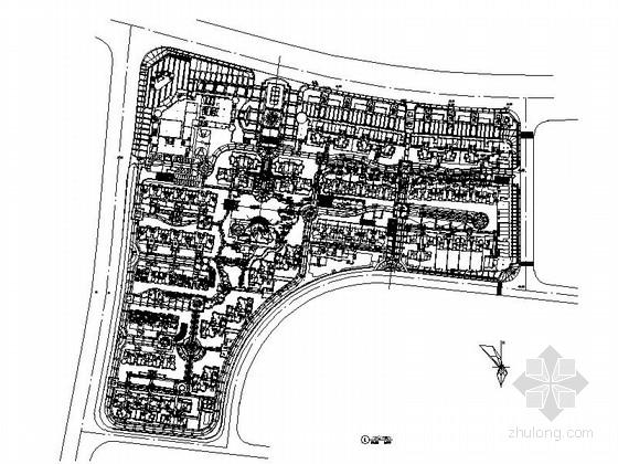 [湖南]诗意住宅小区景观方案设计施工图