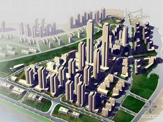 某山地城市滨水城市设计