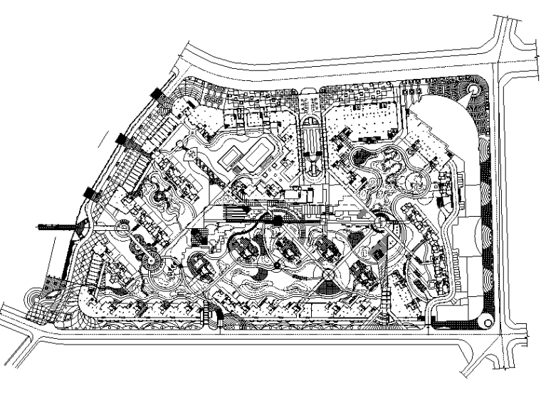 [分享]居住区v方案方案资料下载全套计划制度建设图片