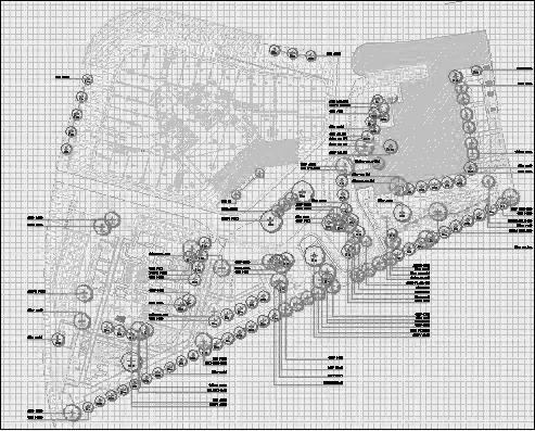 四川成都金色海蓉景观设计施工图-植物设计2