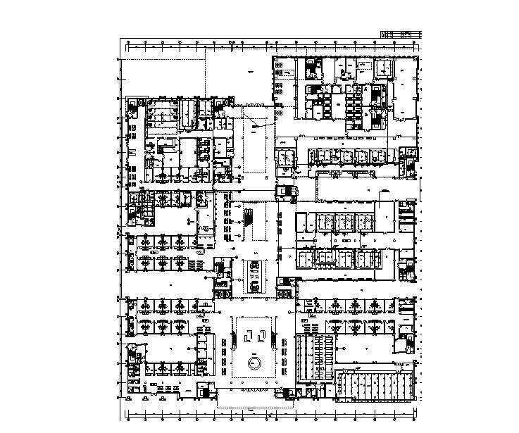 江蘇26層中心醫院給排水設計施工圖(門診、辦公、食宿、地下室)