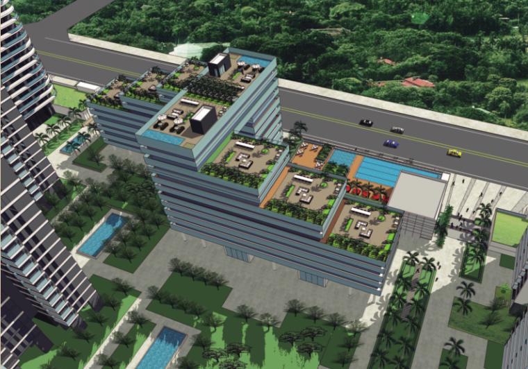 [广州]别致立面一梯一户高层住宅建筑设计方案文本(含SU、CAD)_3