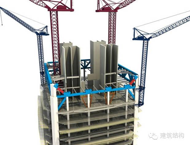 建筑结构丨超高层建筑钢结构施工流程三维效果图_13