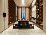 中式办公空间洽谈室3D模型
