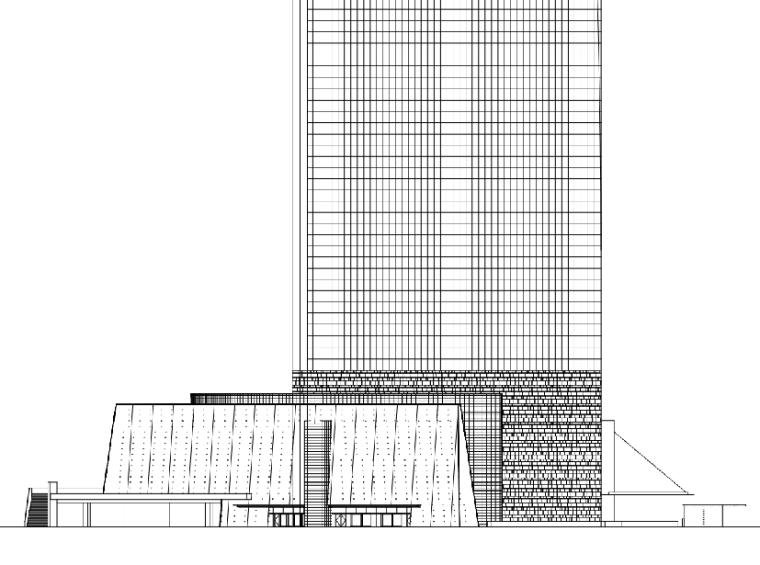 492米知名超高层写字楼办公综合体建筑方案设计CAD施工图纸