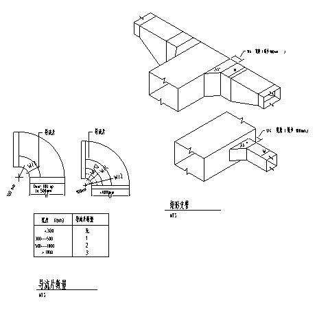 风管风口管件阀门安装节点CAD图_2