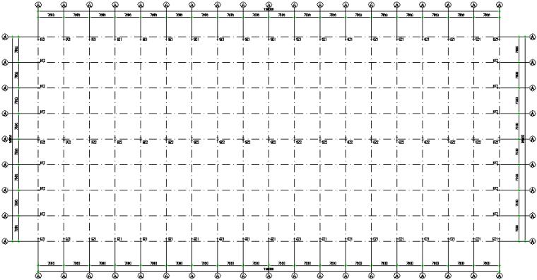 56X126m五跨门式刚架厂房钢结构施工图