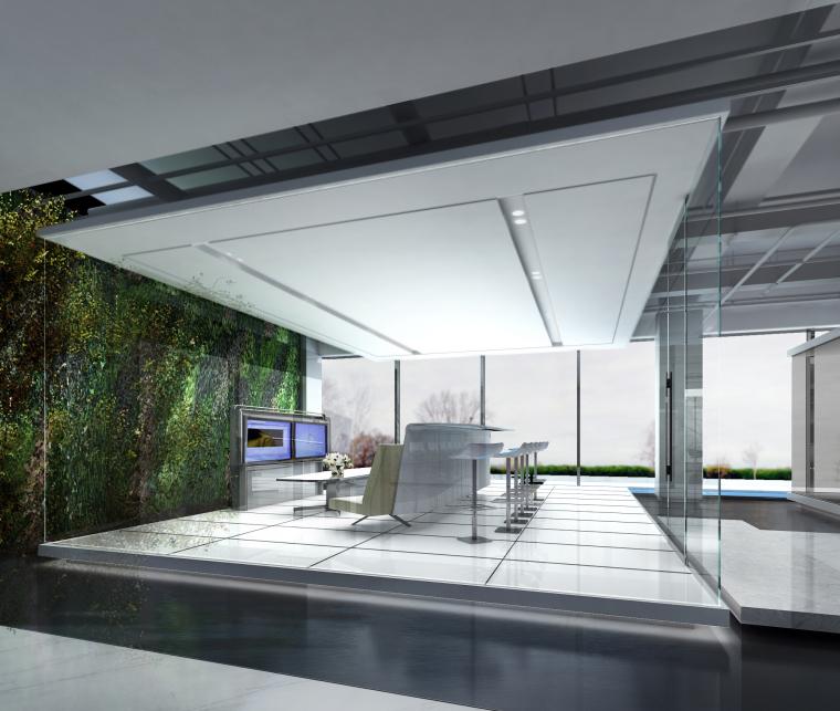 [上海]知名地产御河硅谷售楼空间设计施工图(附效果图+软装方案)-会议