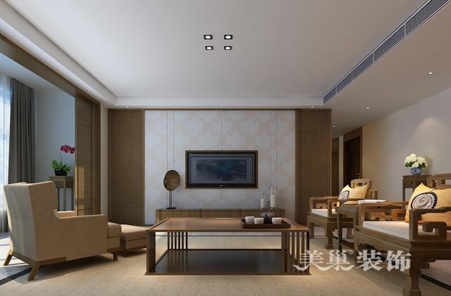 濮阳香榭里261平四室两厅新中式风格装修效果图