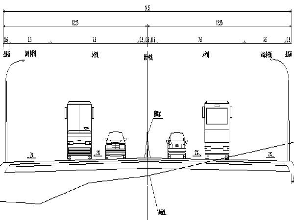 [长沙]道路下穿城市高速公路路改桥工程施工图
