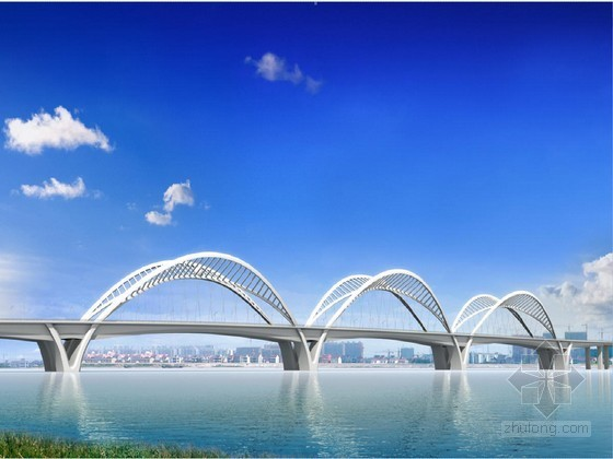 3×210m钢混叠合梁结构拱桥总体施工组织设计附CAD(大直径承台基础 逐跨顶推)