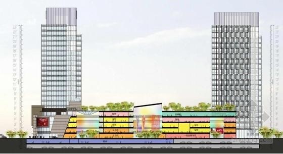 高档现代风格多层次商业综合体建筑剖面图